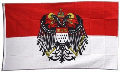 Flagge Deutschland Stadt Köln mit großem Wappen - 90 x 150 cm - Sport Köln
