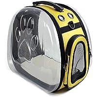 Mochila para perros aprobada por la aerolínea, mochila delantera para mascotas Puupy con diseño de cabeza transpirable y hombro acolchado de malla doble para excursiones de senderismo ( Color : D )