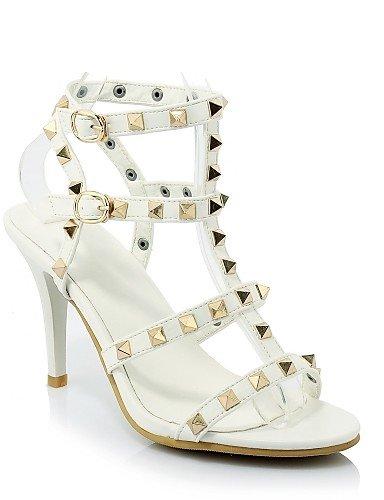 UWSZZ Die Sandalen elegante Comfort Schuhe Frau - Sandalen - Freizeit / Abend und Fest - Fersen/Tick/Ankle Strap - mandrin - Kunstleder - schwarz/ Black