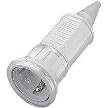 Mennekes 101700008 Prolongador con Tapa Schuko 16 A / 230 V, Tomas de Corriente, IP 44 Grado de Protección, Negro