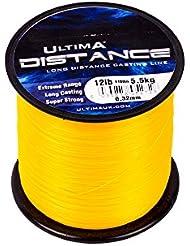 Ultima Unisex e5284Rango de larga distancia Casting y mar pesca línea, fuego naranja, 0,38mm-18.0LB