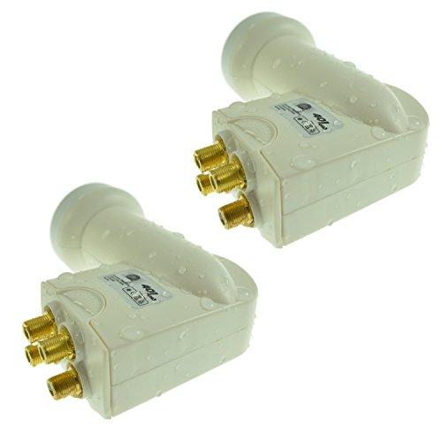 2 x Na-Digital 401 - hochwertiges Wetterschutz inkl. für alle Satellitenanlagen Quad LNB Digital Full HD 4 Teilnehmer