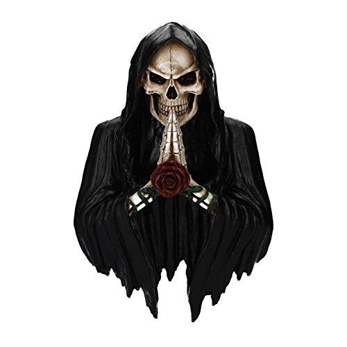 elett Sensenmann Wandrelief Gothic Halloween Wanddeko Dekoration NN53 (Halloween Figuren)