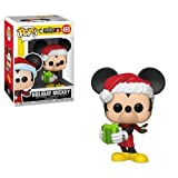 Funko- Pop Vinyl: Disney: Mickey's 90th Anniversary: Holiday Mickey Idea Regalo, Statue, Collezionabili, Comics, Manga, Serie TV, Multicolore, 35753