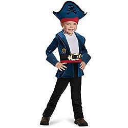 Disfraz para niño de capitán Jake, talla pequeña.