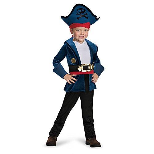Disney Neverland Captain Jake Classic Child Costume Medium (Jake The Pirate Kostüme Halloween)