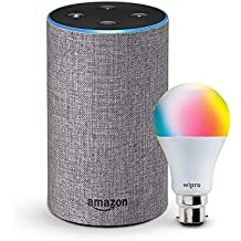 Echo (Grey) bundle with Wipro 9W smart bulb