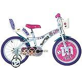 "Dino Bikes - Bicicletta LOL 16"" bambina Bianca e Viola"