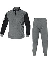 Pijama de invierno afelpado de hombre adulto de la Juventus FC, con logotipo nuevo de