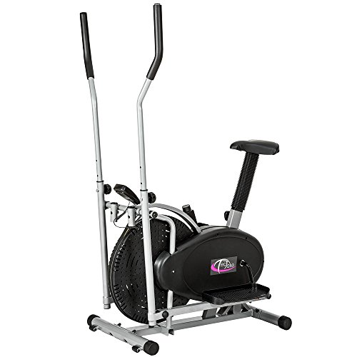 TecTake 2 in 1 CYCLETTE ELLITTICA PROFESSIONALE ELLIPTICAL MAGNETICA ERGOMETRO CON DISPLAY LCD