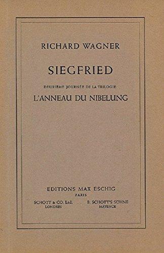 Siegfried: Der Ring des Nibelungen. WWV 86 C. Textbuch/Libretto.