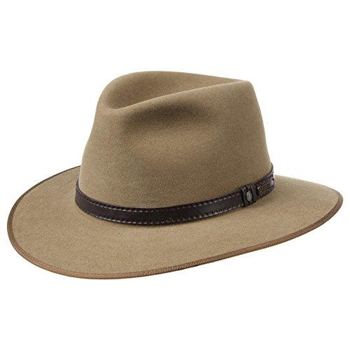 8610e5879f9c8 Sombrero The Outback Opal by AKUBRA sombrero de fieltrotraveller (53 cm -  beige)