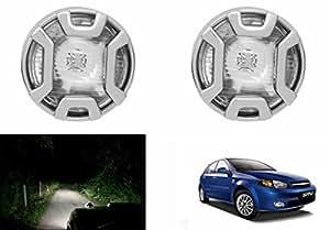 Speedwav 2x2P Plain Glass Auxiliary Lights Set Of 2-Chevrolet Optra SRV