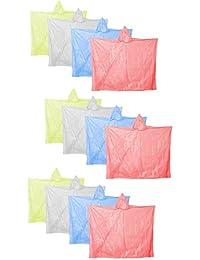 COM-FOUR® Regenponcho Notfallponcho Regen Poncho mit Kapuze - Regenschutz zu jeder Gelegenheit