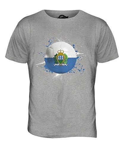 CandyMix San Marino Fußball Herren T Shirt Grau Meliert