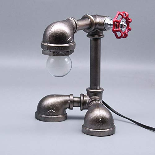 OLDJTK Retro Lampada Industriale d'apprendimento del fari della metropolitana del LED LED, luci della Decorazione del Negozio di Bar (Color : Bronze)