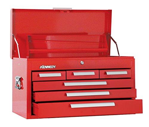 Kennedy Verarbeitung 266R 66cm Mechanik Kommode mit 6'Brust mit Tablett, Industrie rot (Kennedy Werkzeug-boxen)