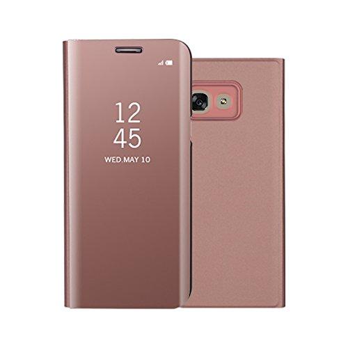 Funda® Espejo Enchapado Flip Funda para Samsung Galaxy A5(2017) (Oro Rosa)