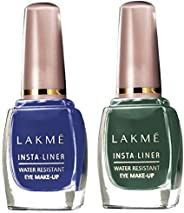 Lakmé Insta Eye Liner, Blue, 9 ml & Lakmé Insta Eye Liner, Green, 9 ml