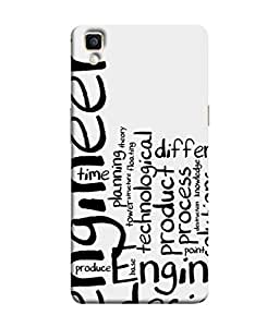 FUSON Designer Back Case Cover for Oppo F1 Plus :: Oppo R9 (Engineer Process Corporate Jobs Technical Solutions )
