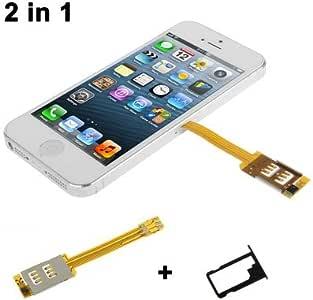 2 in 1 (Dual-SIM-Karte Multi-SIM-Karte + Behälter-Halter