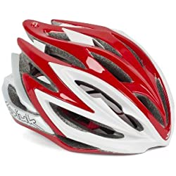 Spiuk Dharma - Casco de ciclismo, color rojo/blanco, talla 53-61