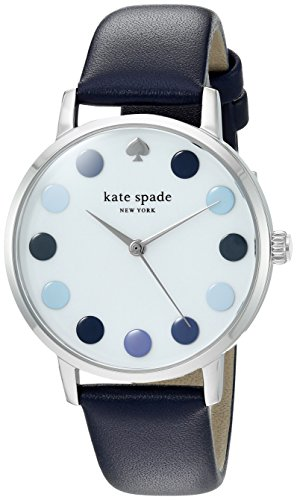 Kate Spade New York Womens Analogue Quartz Watch with Leather Calfskin Strap KSW1173