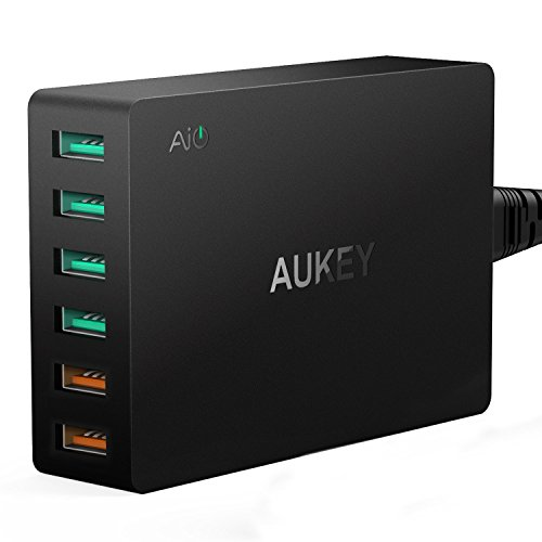 Aukey 60W - 6 Puertos USB + Quick Charge 3.0