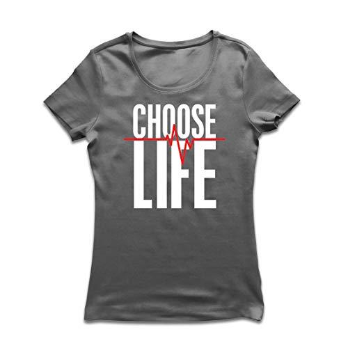 irt Wählen Sie das Leben Herzschlag, Anti-Abtreibung politischen Protest, Christian Zitat (X-Large Graphit Mehrfarben) ()