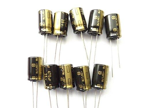 470uF 25V 105°C Low ESR Panasonic eeufm1e471size10mmx16mm Longlife x10pcs