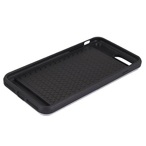 iPhone 8, 7 étui rigide, Verus® - emplacement secret de carte secret, style coulissant, housse de protection résistant aux chocs en argent Silver
