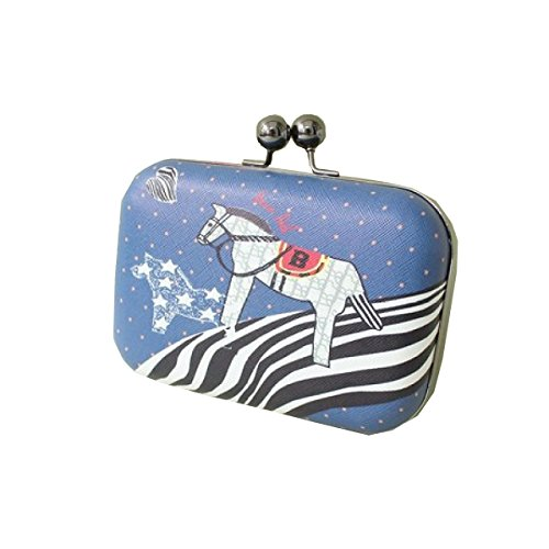 Kette Clutch Bag Handtaschen Schultertasche Messenger Bag Abendtasche Mode Einfach,Blue (Handtasche Bronze-abend)