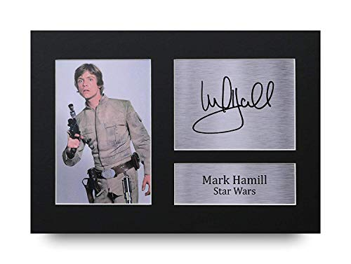 HWC Trading Mark Hamill Geschenke Unterzeichneten A4 Gedrucktes Autogramm Star Wars Luke Skywalker Druck-Foto-Bilderanzeige