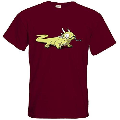 getshirts - Daedalic Official Merchandise - T-Shirt - Deponia Poisonous Burgundy