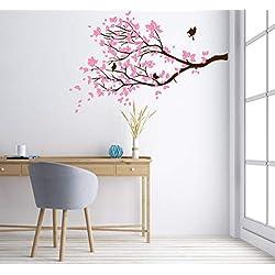 Wandtattoo-Wandaufkleber ***Ast inkl. Vögel + großes Blätterset zum selbst dekorieren ***Größe.- Farben und Ausrichtung frei wählbar!