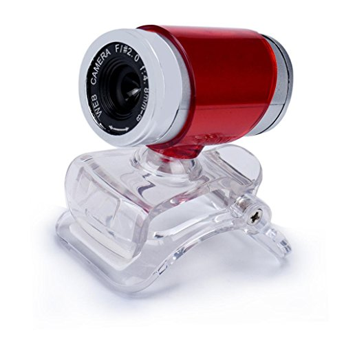 Prevently Computer Kamera, High Definition 1080P HD USB PC Webcam 50MP HD Webcam Web Cam Kamera für Computer PC Laptop Desktop (Rot)
