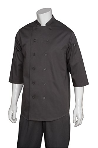Twill Top Coat (Chef Works Sleeve Chef Shirt, schwarz, Small)