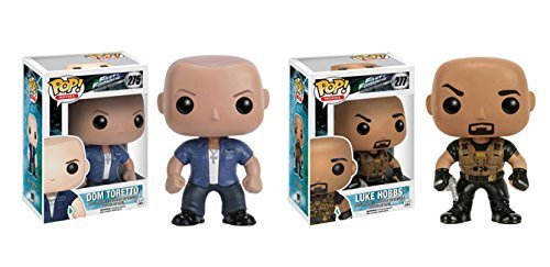 Funko POP Movies Fast and Furious Dom Toretto and Luke Hobbs 2 Piece BUNDLE by Fast and Furious