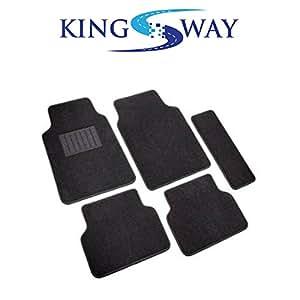 KINGSWAY Carpet Mats for Honda BR-V (BLACK)