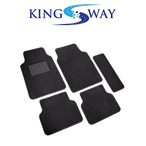KINGSWAY Carpet Mats for Hyundai New Verna Fludic (Black, Set of 5)