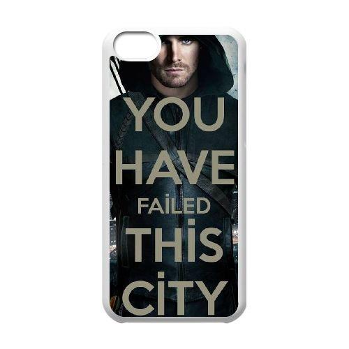 Arrow coque iPhone 5C Housse Blanc téléphone portable couverture de cas coque EBDOBCKCO17817, coques iphone