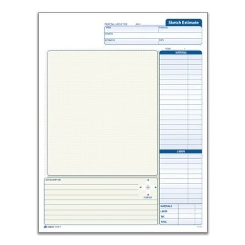 Adams Grid Sketch Book, Carbonless, 8.38 x 11.44 Inches, White and Canary, 2-Part, 25 Sets (DC8511) by Adams Adams Grid