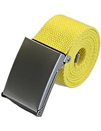 SAMGU Mode unisexe plaine sangle ceinture ceinture ceinture en toile Casual
