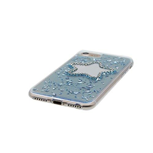 [ Carino Cartoon stelle ] iPhone 6 Custodia, case Paraurti dassorbimento con TPU Back-Anti-Scratch [Perfetta misura] Cover iPhone 6s Copertura Shell ( iPhone 6/6S 4.7) blu