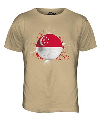 CandyMix Singapur Fußball Herren T Shirt Sand