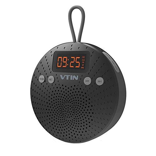 VicTsing Bluetooth Lautsprecher, Mini Bluetooth 4.0 Speaker mit FM Radio 5W Tragbarer Wasserdichte Wireless Lautsprecher mit Wecker Funktion Freisprecheinrichtung für Outdoor, Dusche für iPhone iPad Freisprech usw