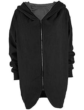 AILIENT Abrigo Con Capucha Mujer Sudadera Con Capucha Cremallera Con Pullover Irregular Chaqueta Manga Larga Jacket...