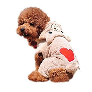 Haoricu Winter Warm Hoodie Dog Coat chien Pet Clothes Clothing Small Puppy Costume