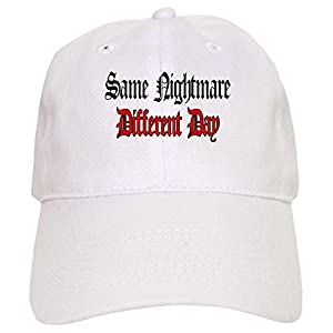 CafePress Nightmare Different Day - Baseball Cap With Adjustable Closure, Unique Printed Baseball Hat