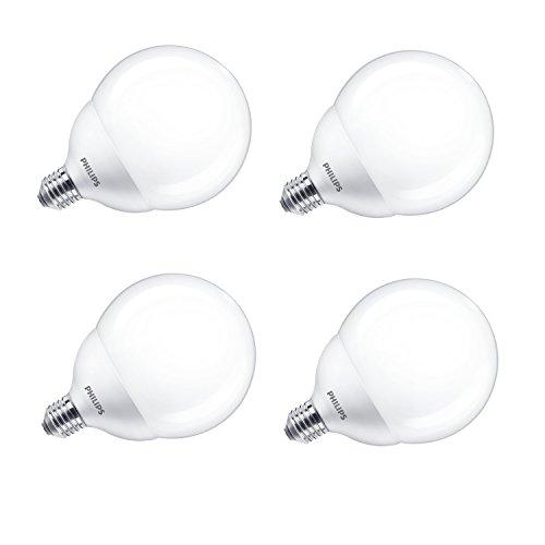 Philips, lampadine LED globo, in stile Edison, 18 W (120 W), luce bianca calda, G120 E27, Sintetico, White, E27, 18 wattsW 240 voltsV